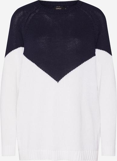 ONLY Pullover 'SARA' in dunkelblau / weiß, Produktansicht