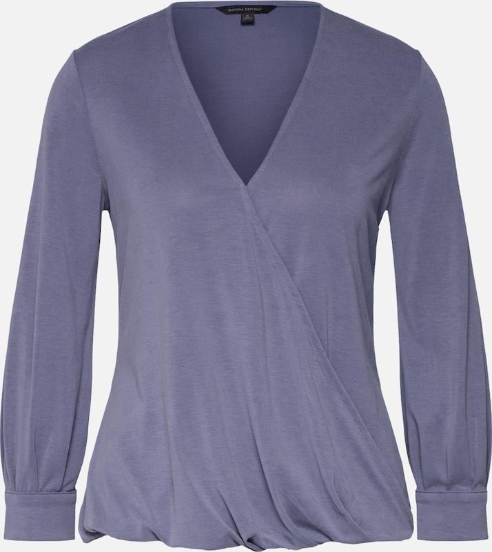 Banana 'wrap En Lilas Republic shirt T Sandwash' Top TFJlK3c1