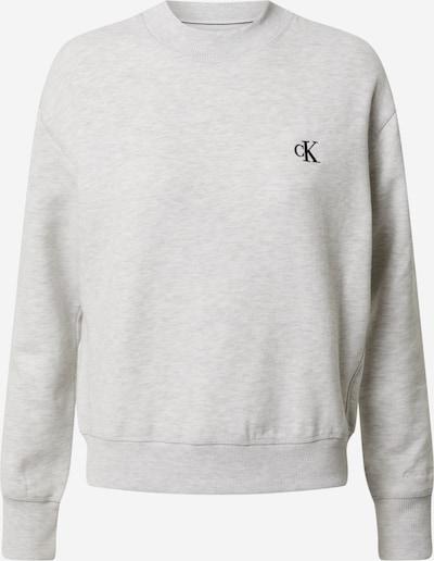 Calvin Klein Jeans Sweatshirt 'CK EMBROIDERY REGULAR CREW NECK' in de kleur Lichtgrijs, Productweergave