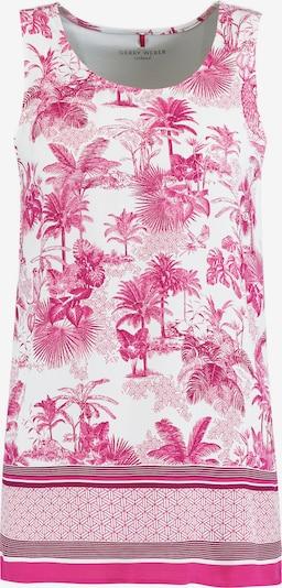 GERRY WEBER Top in pink / weiß, Produktansicht