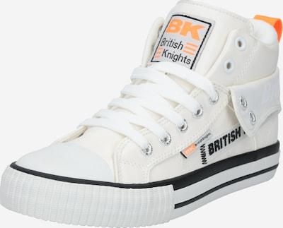 BRITISH KNIGHTS Baskets hautes 'ROCO TAG' en orange / noir / blanc, Vue avec produit