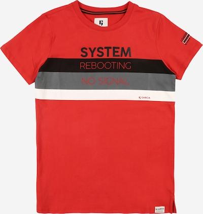 GARCIA Tričko - tmavě šedá / červená / černá / bílá, Produkt