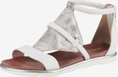 JOLANA & FENENA Sandale in silber / weiß, Produktansicht