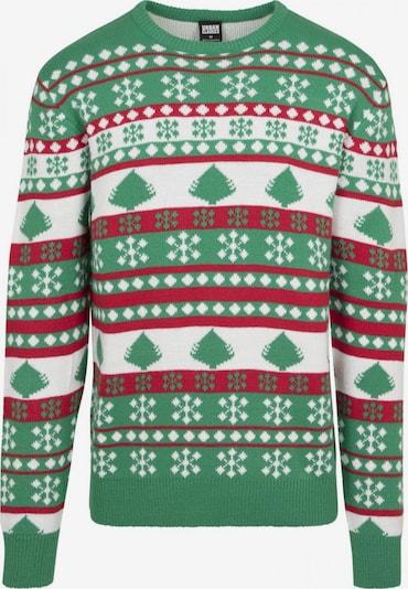 Urban Classics Džemperis gaiši zaļš / ugunssarkans / balts, Preces skats