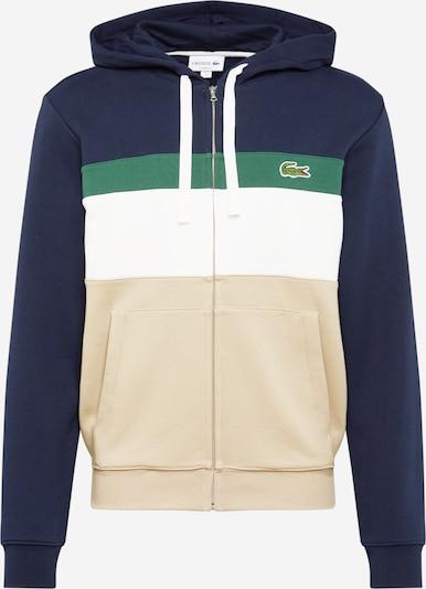 LACOSTE Mikina s kapucí - tělová / námořnická modř / zelená / bílá, Produkt