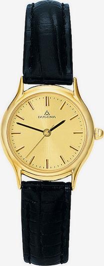DUGENA Armbanduhr in gold / schwarz, Produktansicht