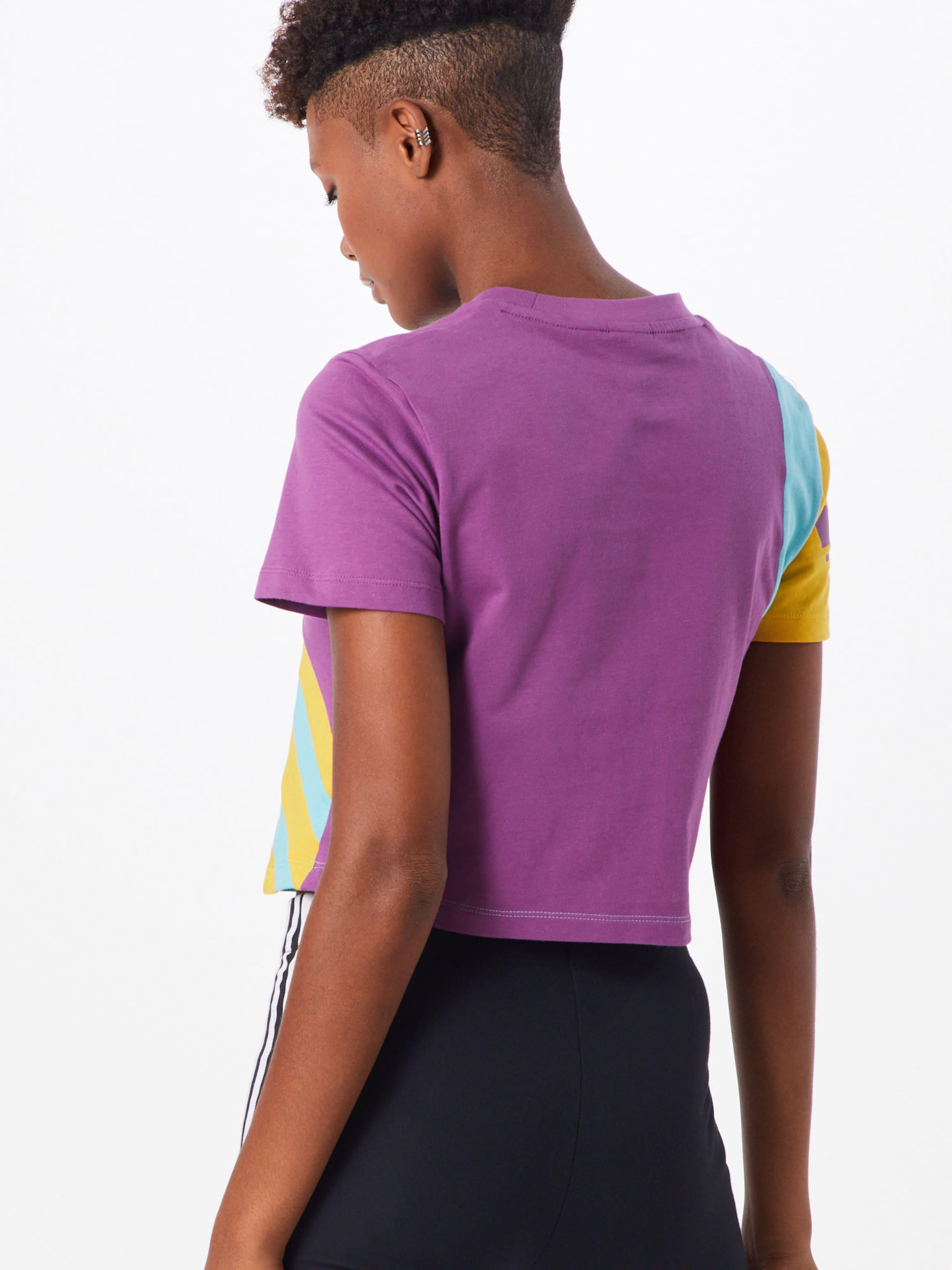 MintLila 'trefoil Tee' Adidas Originals Shirt In ZikXPu