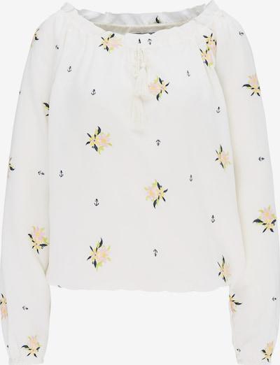 DREIMASTER Shirt in ultramarinblau / hellgelb / apfel / pastellpink / weiß, Produktansicht