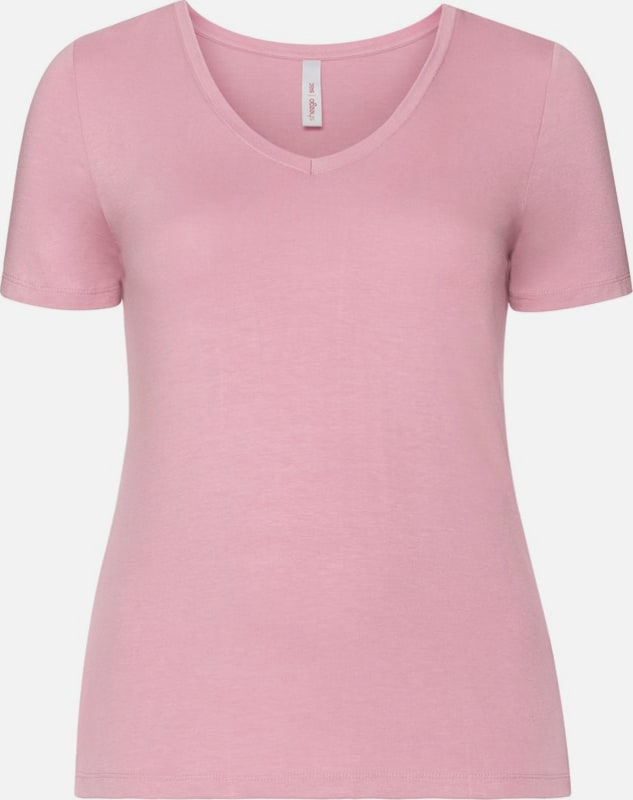 sheego casual BASIC T-Shirt mit V-Ausschnitt
