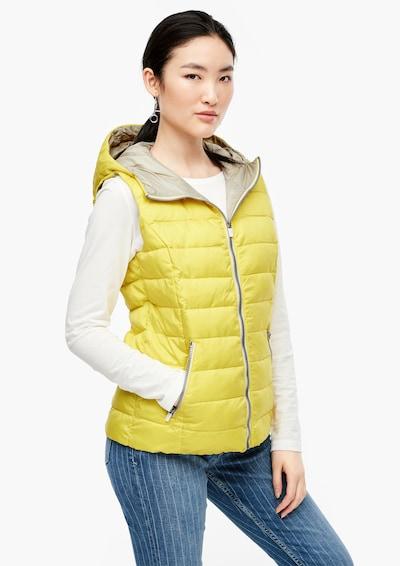s.Oliver Steppweste in gelb, Modelansicht