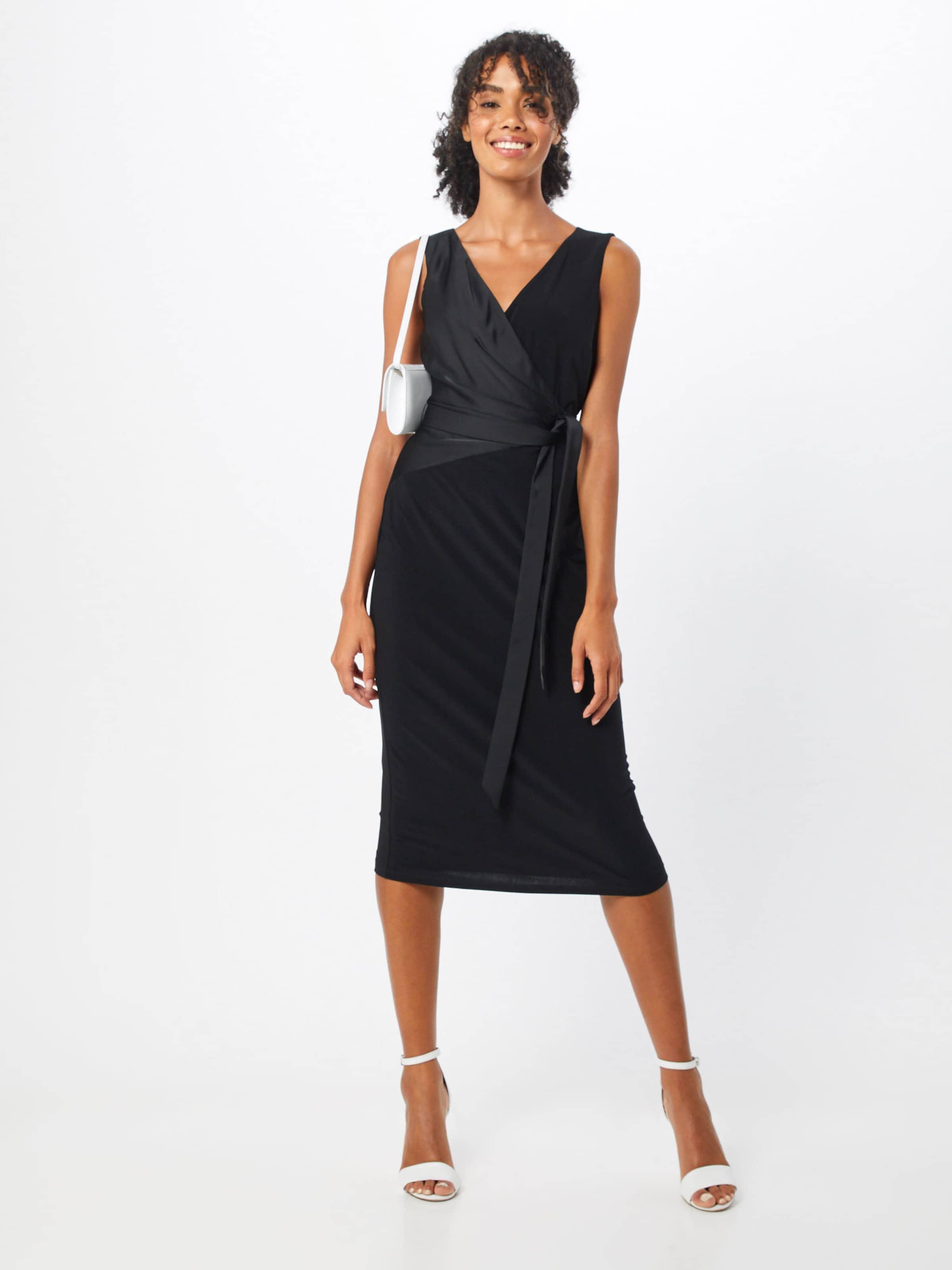 'timi Dress' Ralph Kleid sleeveless cocktail Schwarz In Lauren KcFl1JT
