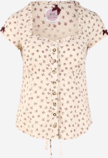 MARJO Bluse 'Malinda' in beige / burgunder, Produktansicht