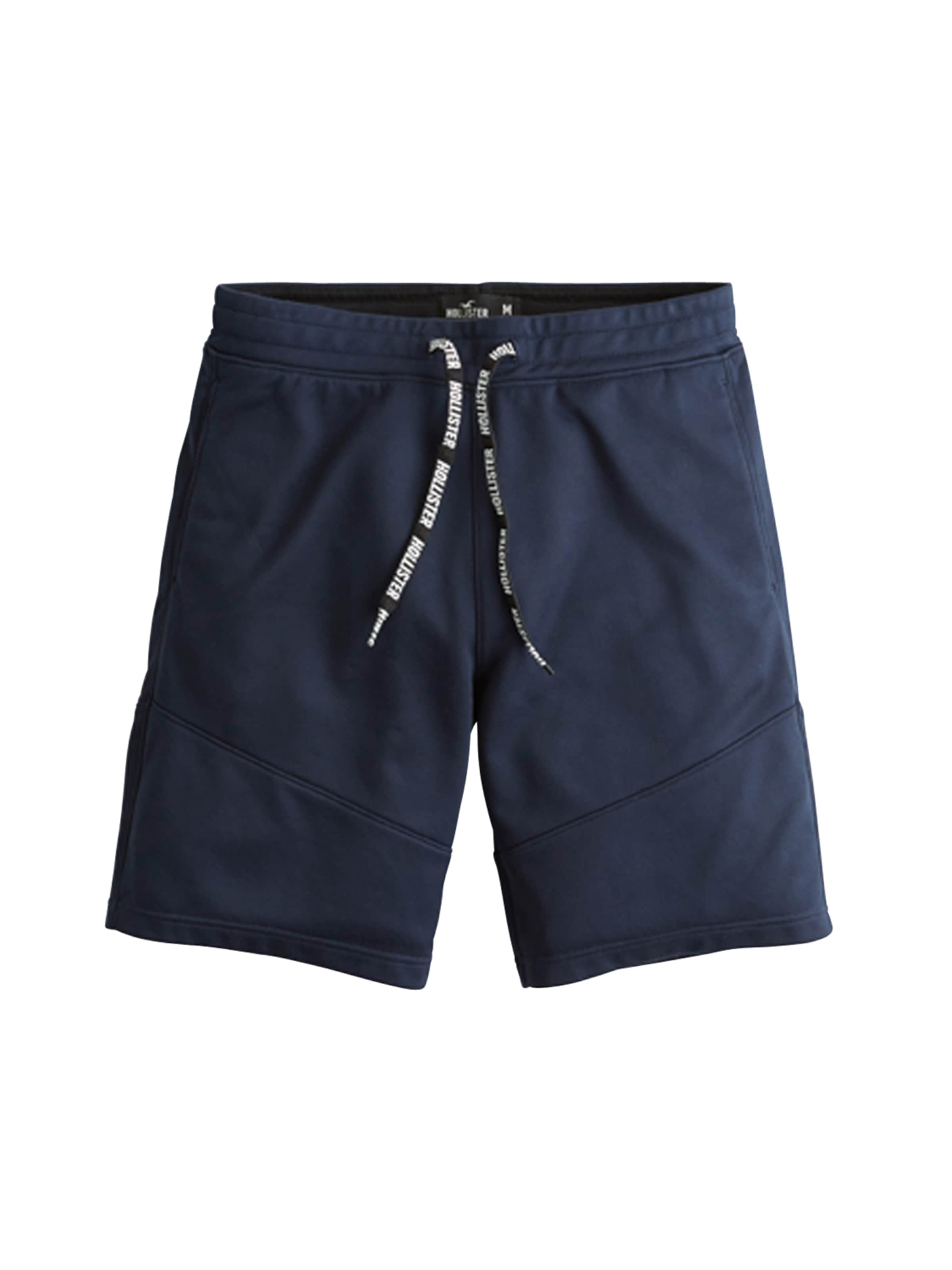 Pantalon 'tricot Piping' En Hollister Bleu Marine CrBodxe