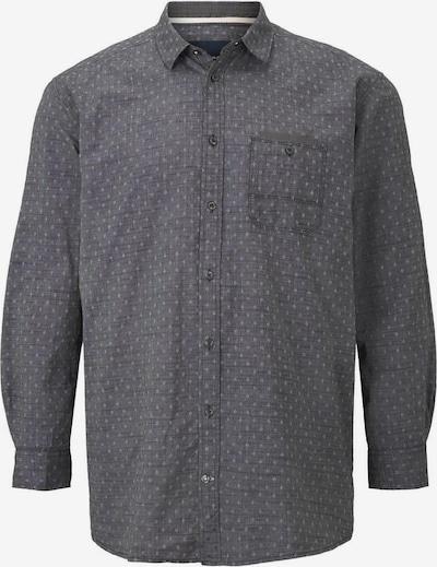TOM TAILOR Men Plus Hemd in anthrazit / hellgrau, Produktansicht