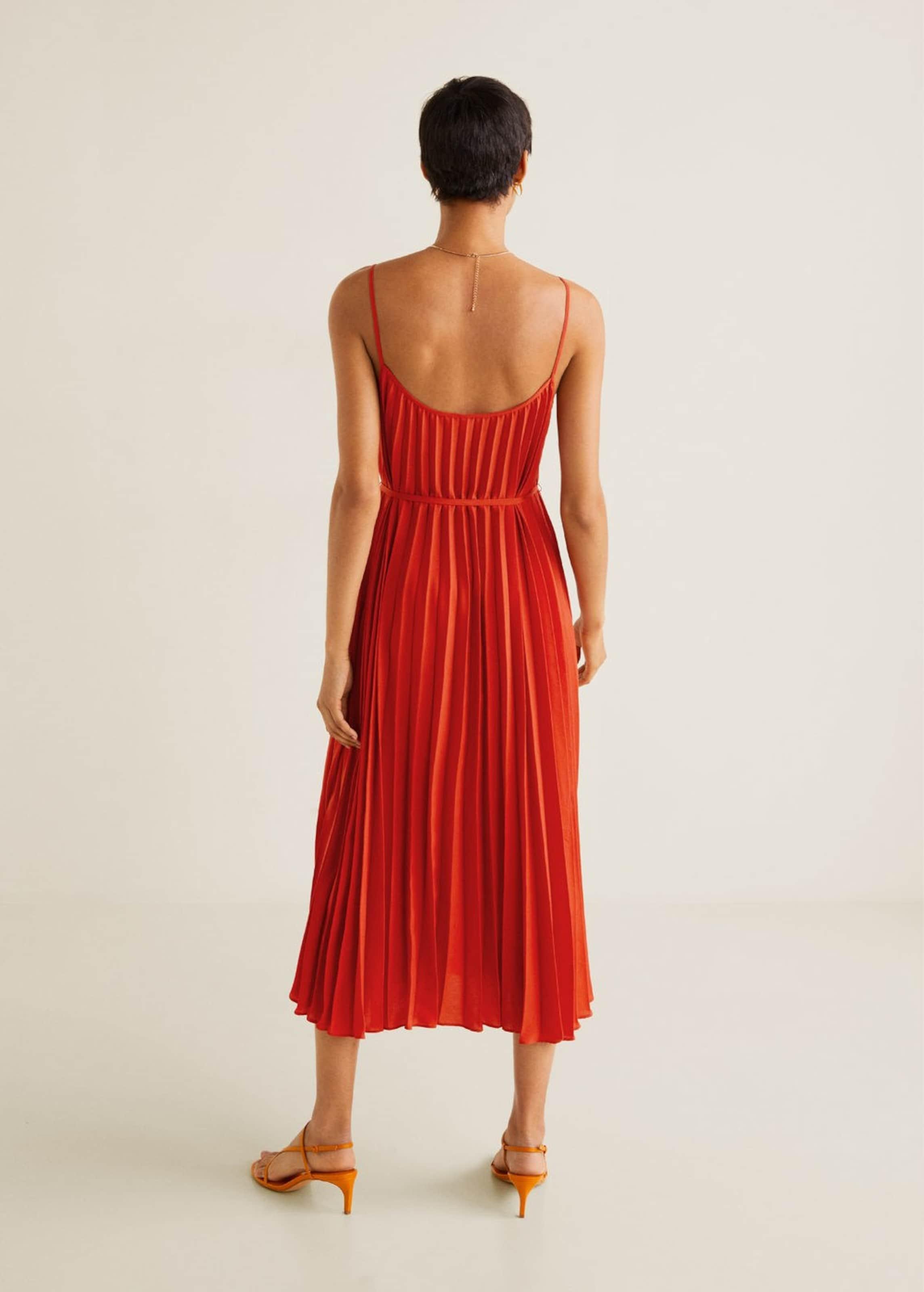 Kleid Mango 'plisado' Mango Kleid In Hellrot XwTiuZOPk
