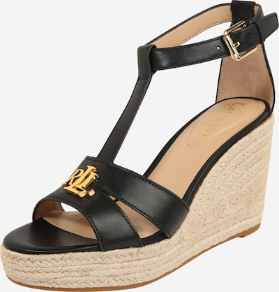 Lauren Ralph Lauren Sandal 'HALE' in Beige / Black, Item view