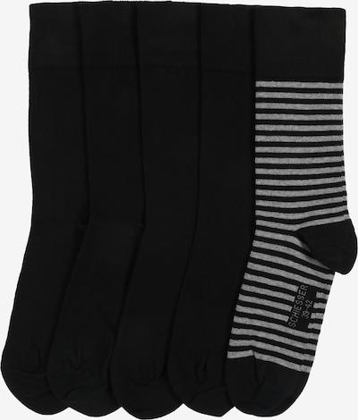 SCHIESSER Chaussettes en gris / noir, Vue avec produit