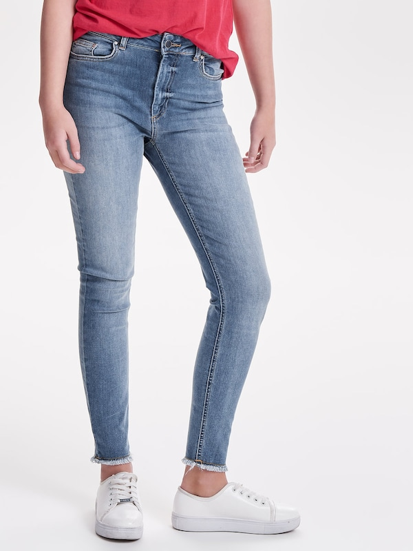 ONLY Raw Ankle Skinny Fit Jeans 'Blush HW'