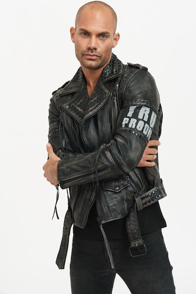 trueprodigy Lederjacke 'Dwayne' in schwarz, Produktansicht