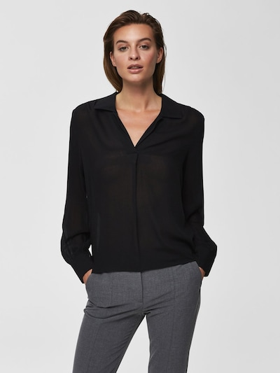 SELECTED FEMME Blouse in Black, View model