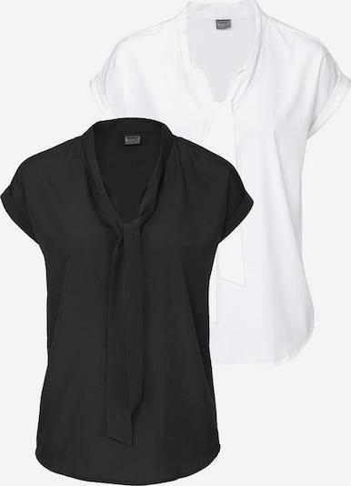BRUNO BANANI Schluppenbluse in schwarz / weiß, Produktansicht