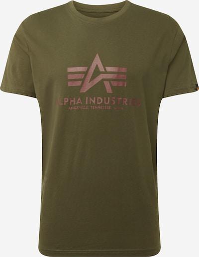 ALPHA INDUSTRIES Print-Shirt in dunkelgrün, Produktansicht