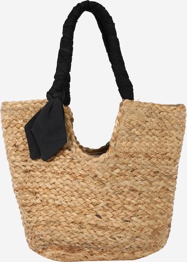 bézs / fekete PIECES Shopper táska: Elölnézet