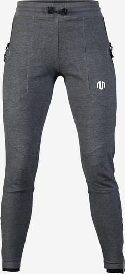 MOROTAI Sporthose in grau / schwarz / weiß, Produktansicht