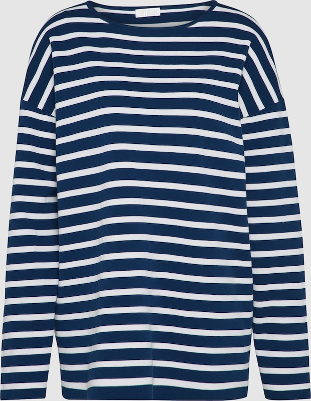 DRYKORN Pullover 'FLORRIE' in dunkelblau   weiß  Große Preissenkung