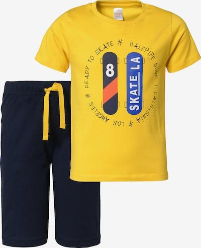 STACCATO Schlafanzug in nachtblau / gelb, Produktansicht