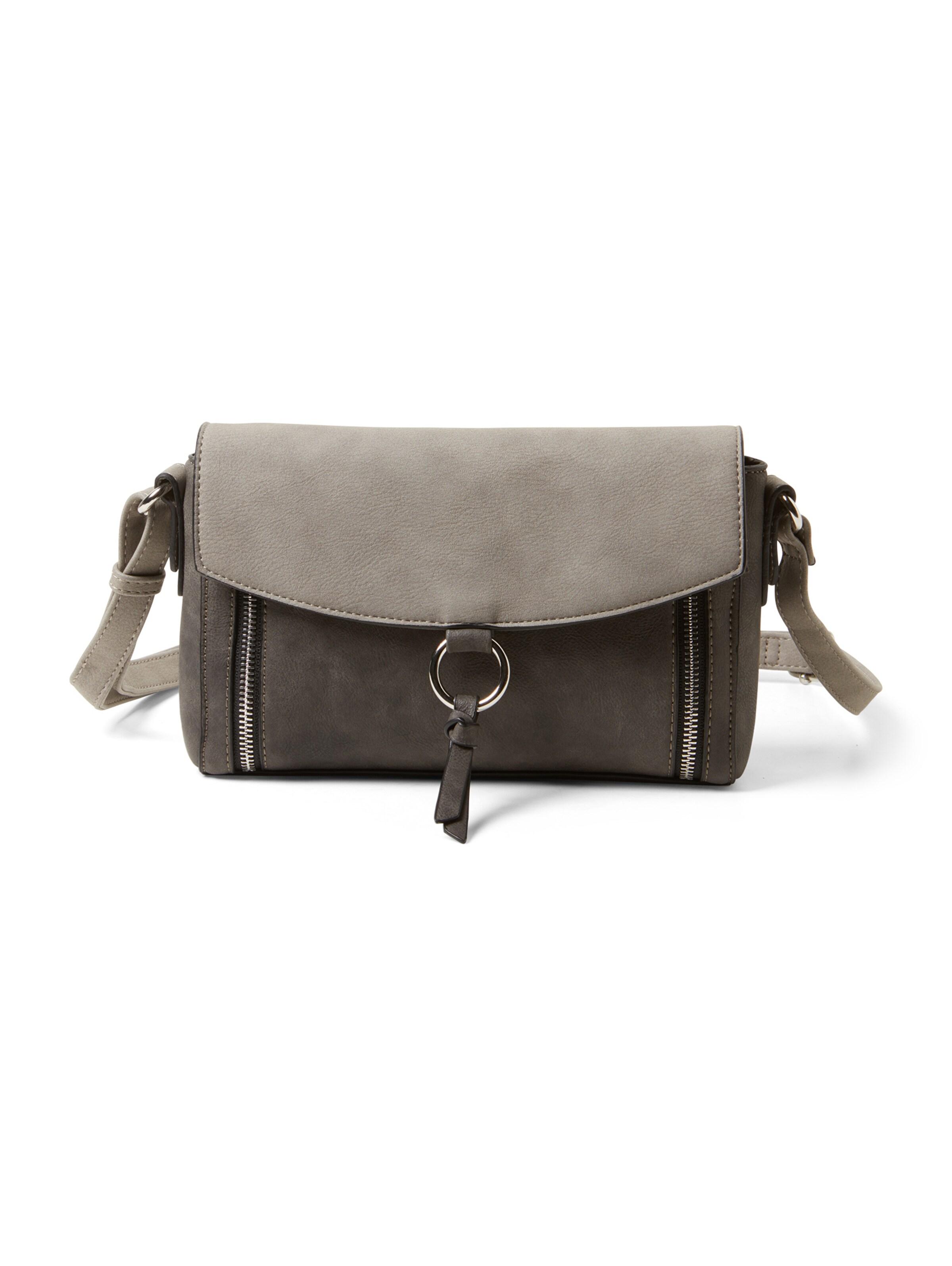 Tom Tailor Taupe Überschlagtasche 'charlee' In 34RLAjq5