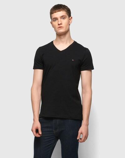 TOMMY HILFIGER T-Shirt in schwarz: Frontalansicht