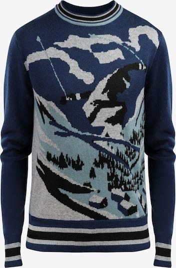 Finn Flare Pullover in blau / mischfarben, Produktansicht