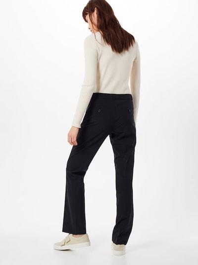 Kelnės su kantu 'LOGAN WASHABLE' iš Banana Republic , spalva - juoda: Vaizdas iš galinės pusės