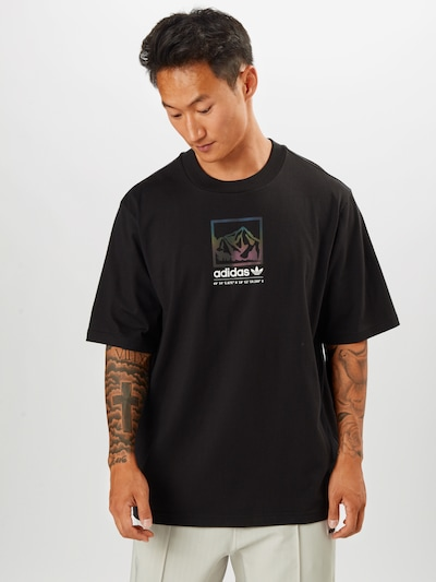 ADIDAS ORIGINALS T-Shirt en bleu / jaune / violet / noir / blanc: Vue de face