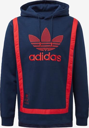 ADIDAS ORIGINALS Hoodie in blau / rot, Produktansicht