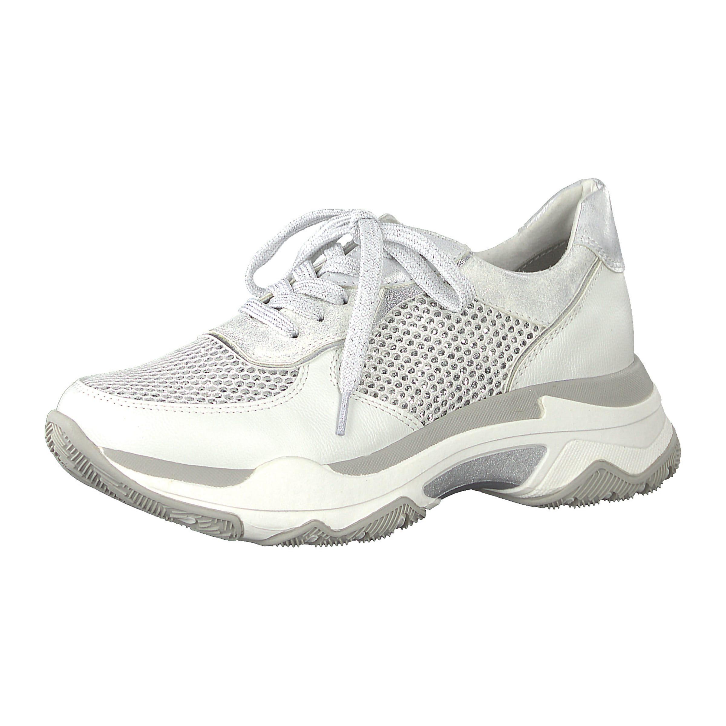 Sneakers Low In SilberWeiß Marco Tozzi 5R4AjL