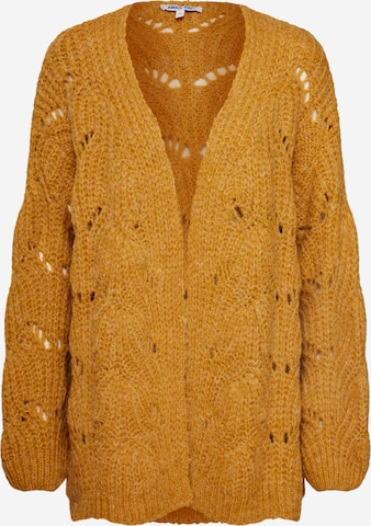 ABOUT YOU Knit Cardigan 'Fiona' in Yellow
