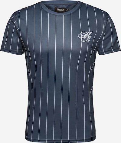 BURTON MENSWEAR LONDON T-Krekls 'Navy Pinstripe T-Shirt in' pieejami kamuflāžas, Preces skats