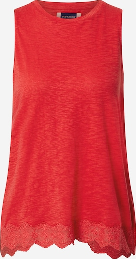 Superdry Top in rot, Produktansicht