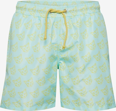 ABOUT YOU X PARI Zwemshorts 'Taylor' in de kleur Turquoise / Geel, Productweergave