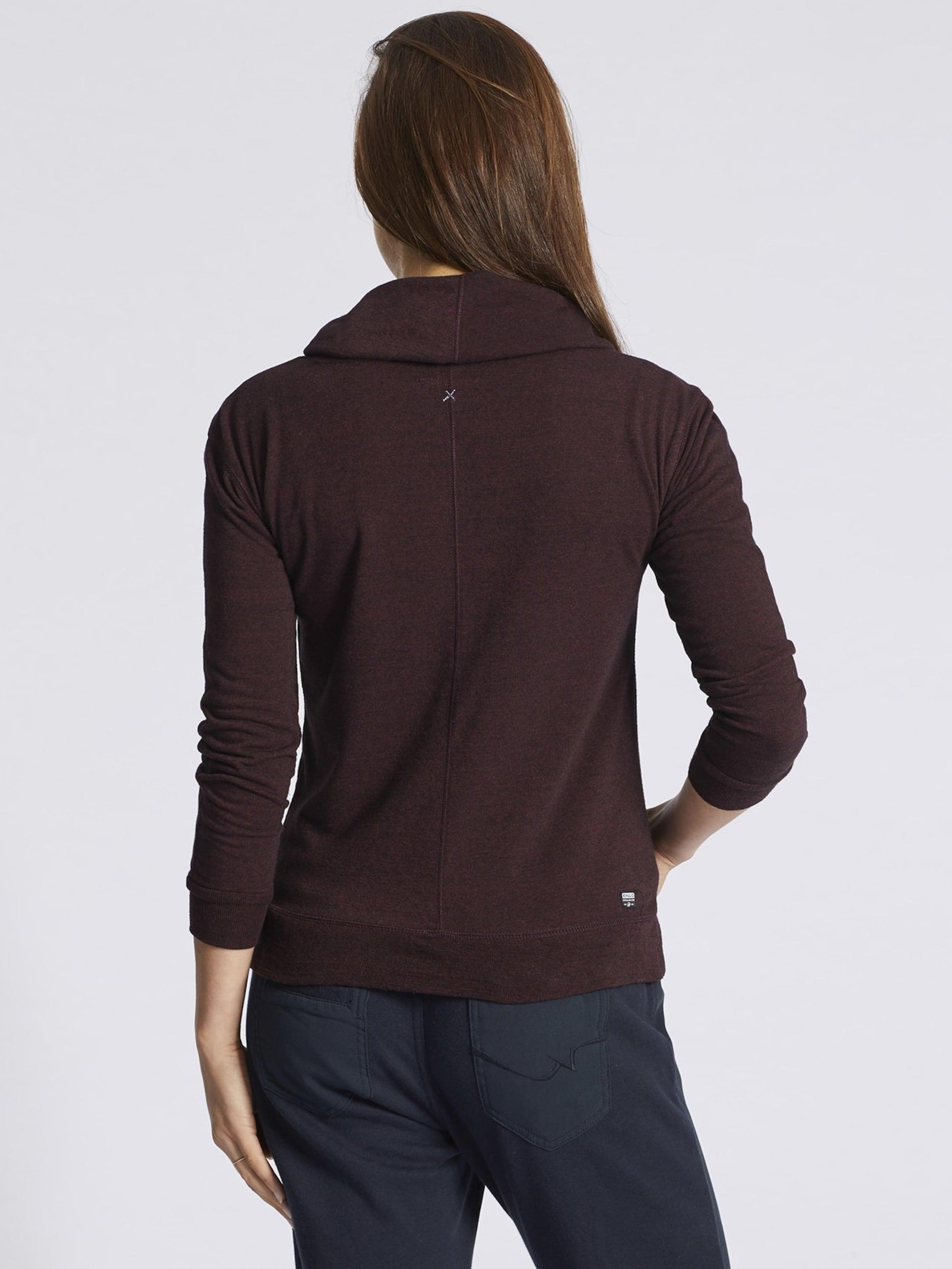 Bourgogne shirt 'pepine' En Sweat Khujo rCdxBoe