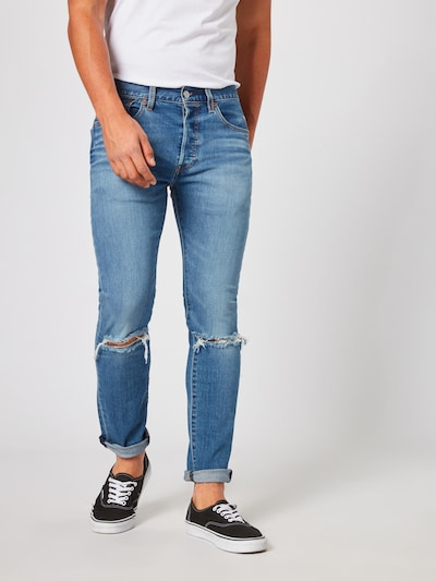 LEVI'S Jeans '501SLIMTAPER' in blue denim: Frontalansicht
