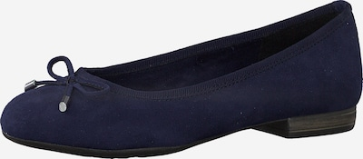 MARCO TOZZI Ballerines en bleu foncé, Vue avec produit