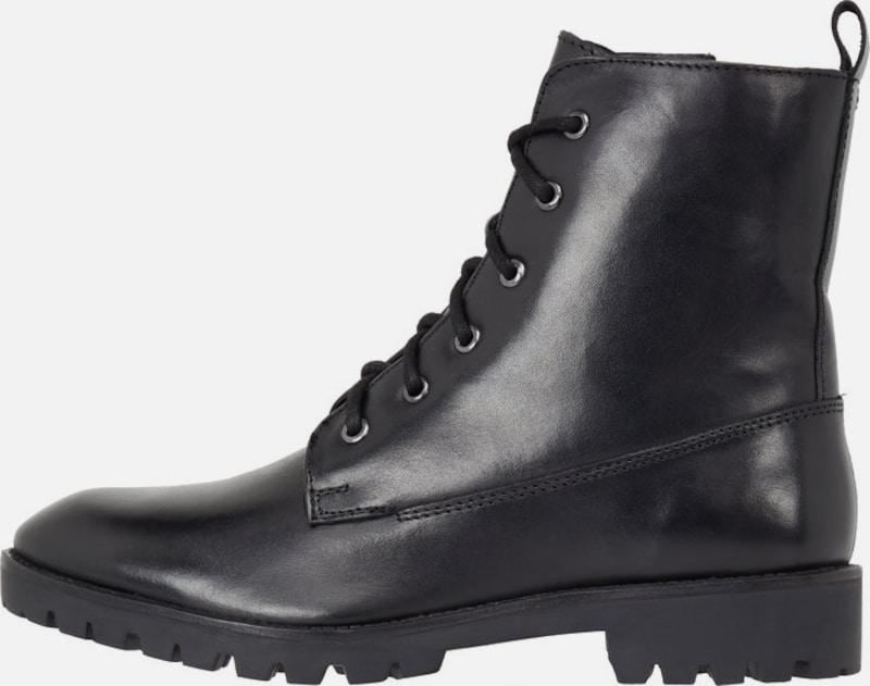 Warme Chunky Stiefel, schwarz, Black Bianco