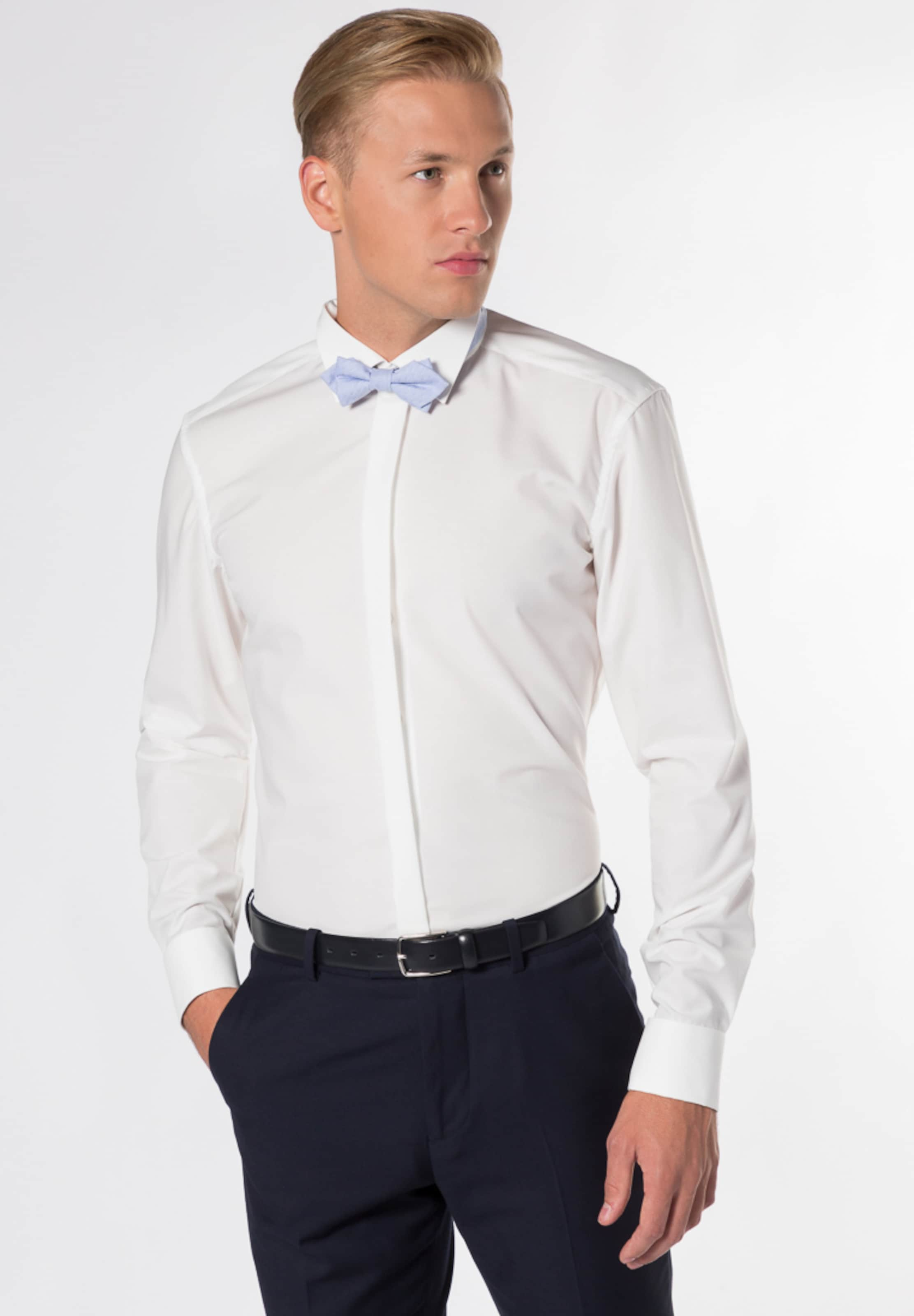 Langarm Slim In Weiß Hemd Eterna Fit WDHE2IeYb9