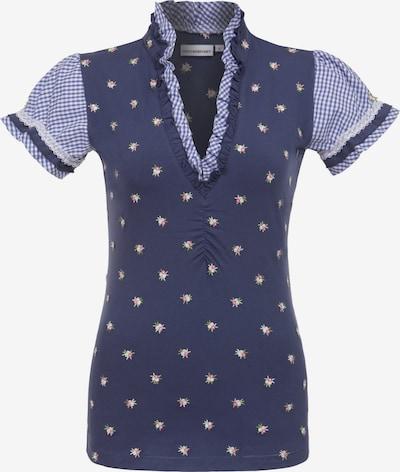 STOCKERPOINT Shirt 'Dany' in hellblau / dunkelblau / weiß, Produktansicht