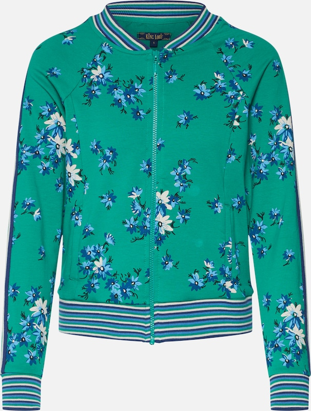 King Louie Jacke 'Biba Baseball Jacket Amalfi' in dunkelgrün     mischfarben  Neuer Aktionsrabatt 565571