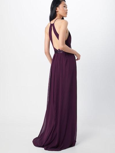 Vakarinė suknelė iš STAR NIGHT , spalva - purpurinė: Vaizdas iš galinės pusės