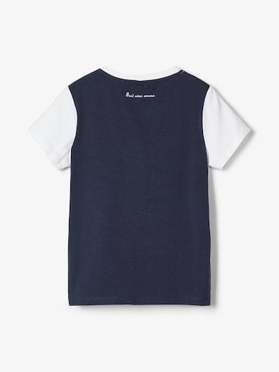 NAME IT T-Shirt en bleu marine / argent / blanc, Vue avec produit